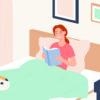 Чтение перед сном в постели