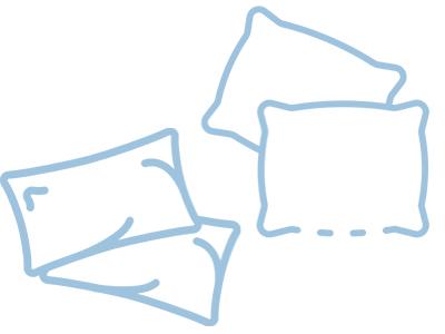 Форма подушки для сна на боку
