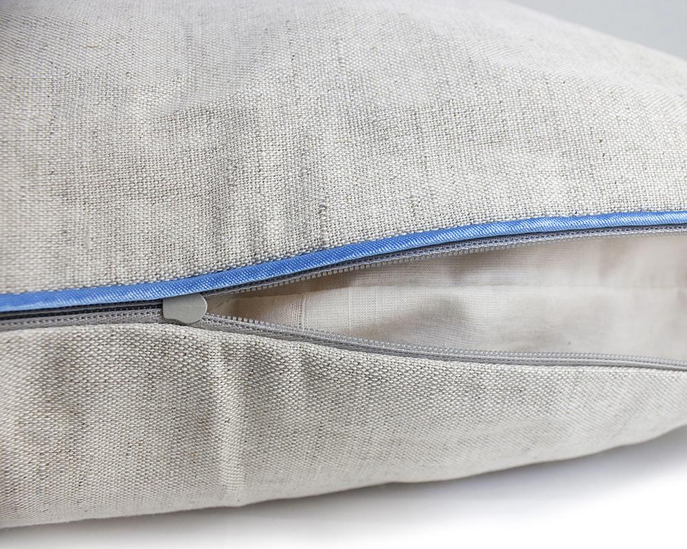 Чехол льняной подушки