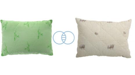 Подушки из бамбукового волокна или овечьей шерсти